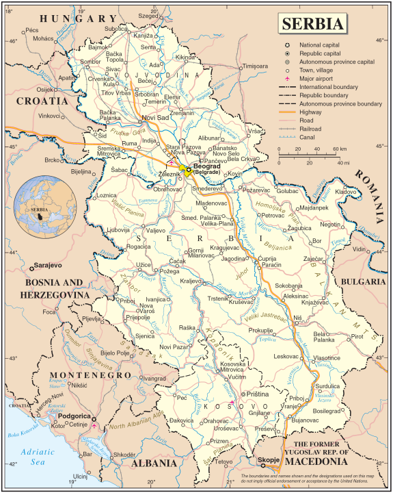 Serbia - Map